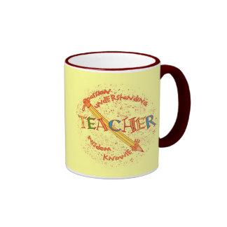 Lema del profesor taza a dos colores