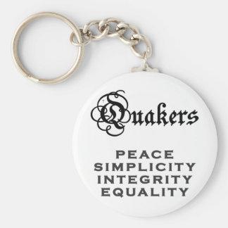 Lema del Quaker Llaveros Personalizados