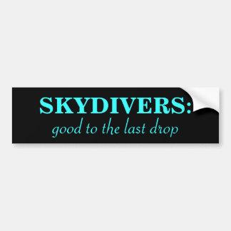 Lema del Skydiver Pegatina De Parachoque