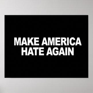 Lema del triunfo - haga que América odia otra vez Póster