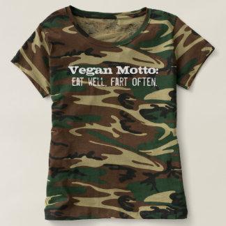 Lema del vegano: Coma bien, fart a menudo Playera