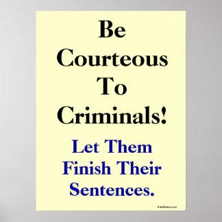 Lema divertido de la ley y del crimen posters
