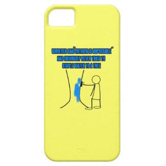 Lema divertido del stickman funda para iPhone 5 barely there