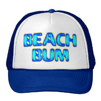 Lema divertido del vago de la playa en azul gorra