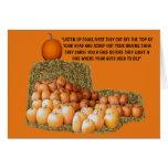 Lema divertido Halloween Tarjeta De Felicitación