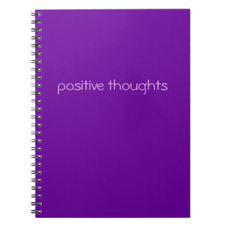 lema divertido positivo de los pensamientos el | spiral notebook