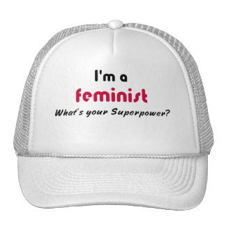 Lema feminista del superpoder gorras