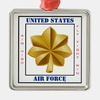 Lema importante O-4 de la fuerza aérea Adorno Navideño Cuadrado De Metal