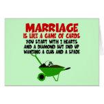 Lema ingenioso de la boda tarjeta