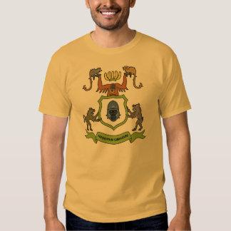 Lema latino de los monos heráldicos - camiseta playeras
