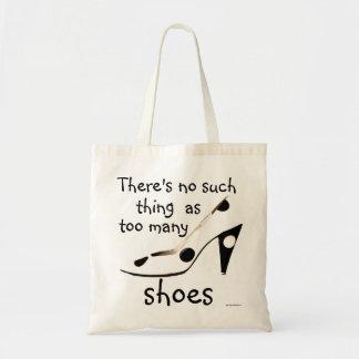 Lema lindo de los zapatos para la moda Shopaholic Bolsa Tela Barata