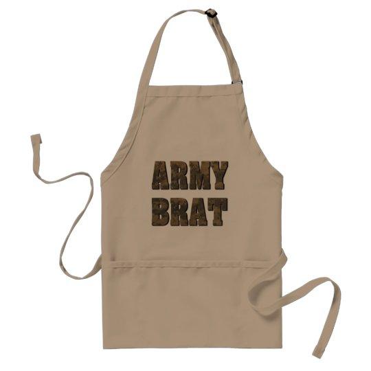 Lema militar del palo de golf del ejército en el delantal