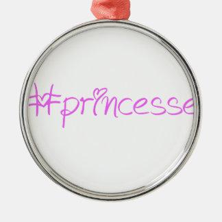 Lema #princesse adorno navideño redondo de metal