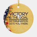 Lema SUPERIOR de la victoria de la gimnasia Ornamento Para Reyes Magos