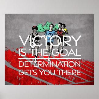 Lema SUPERIOR de la victoria de la pista Poster