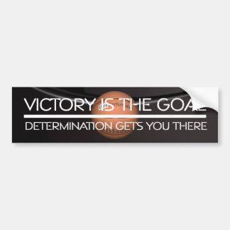Lema SUPERIOR de la victoria del baloncesto Etiqueta De Parachoque