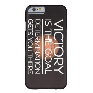 Lema SUPERIOR de la victoria del baloncesto Funda Barely There iPhone 6