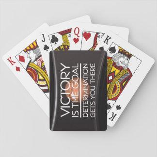 Lema SUPERIOR de la victoria del baloncesto Cartas De Póquer