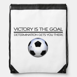 Lema SUPERIOR de la victoria del fútbol Mochila