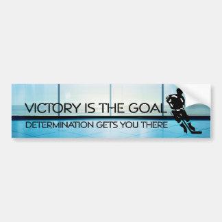 Lema SUPERIOR de la victoria del hockey Etiqueta De Parachoque