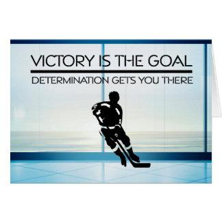 Lema SUPERIOR de la victoria del hockey Felicitación