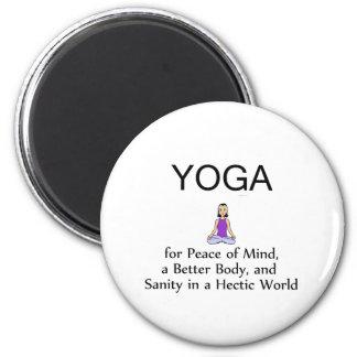 Lema SUPERIOR de la yoga Imán De Frigorifico