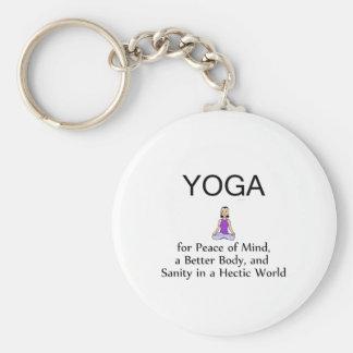 Lema SUPERIOR de la yoga Llaveros Personalizados