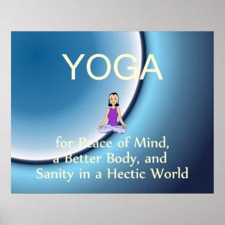 Lema SUPERIOR de la yoga Impresiones