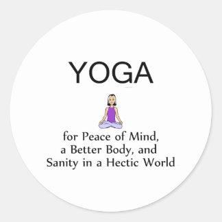 Lema SUPERIOR de la yoga Etiqueta