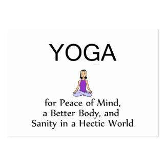 Lema SUPERIOR de la yoga Plantilla De Tarjeta Personal