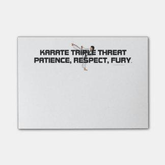Lema SUPERIOR del karate Post-it Nota
