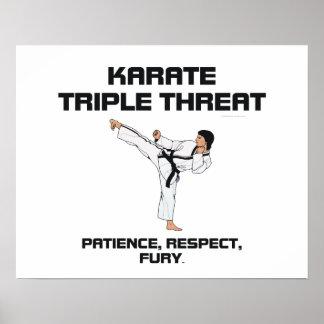 Lema SUPERIOR del karate Póster