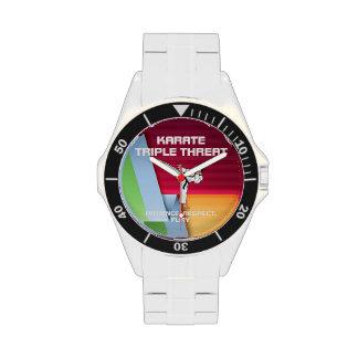Lema SUPERIOR del karate Reloj De Mano