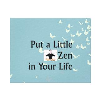 Lema SUPERIOR del zen Lienzo Envuelto Para Galerías