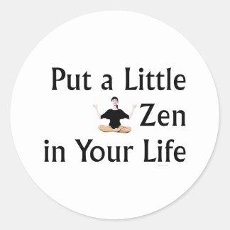 Lema SUPERIOR del zen Pegatina Redonda