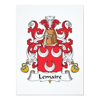 Lemaire Family Crest Announcements