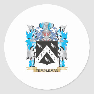 Leman Coat of Arms - Family Crest Classic Round Sticker