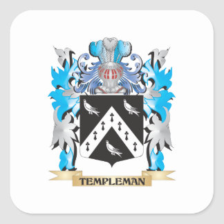 Leman Coat of Arms - Family Crest Square Sticker