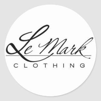 Lemark Clothing Line Round Stickers