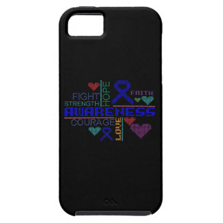 Lemas coloridos del cáncer rectal iPhone 5 Case-Mate cobertura