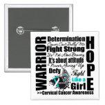 Lemas de la lucha del guerrero del cáncer de cuell pin