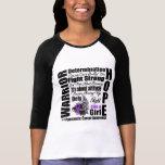 Lemas de la lucha del guerrero del cáncer pancreát camiseta