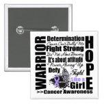 Lemas de la lucha del guerrero del cáncer pin