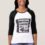 Lemas de la lucha del guerrero del linfoma de camisetas