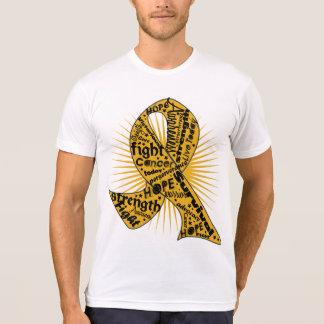 Lemas potentes de la cinta del cáncer del apéndice camiseta