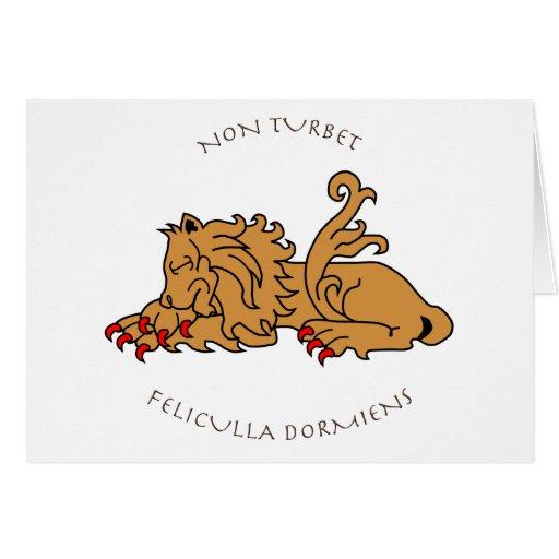 Lemas y heráldica latinos tarjeta de felicitación