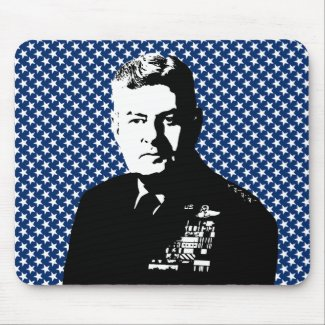 Lemay with Stars Background mousepad
