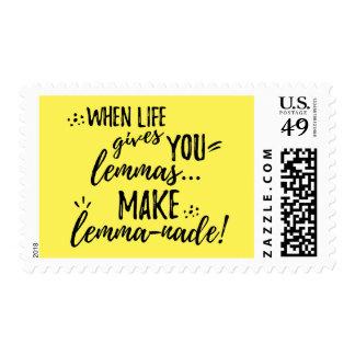 Lemma (Lemonade) Mathematics Linguistics Humor Postage