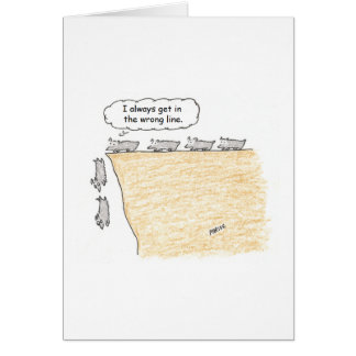 Lemming Cartoon Birthday Card