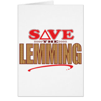 Lemming Save Card